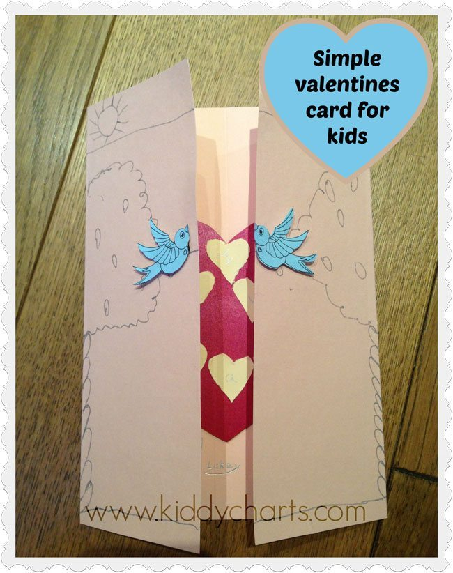 Valentines Cards For Kids How To Make A Love Bird Card