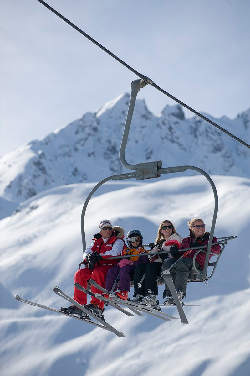 Choosing a ski resort for young families