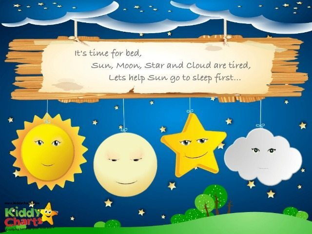 Help your child to sleep is based on four little characters - the sun, moon, cloud and a wee star. We rather like the star....