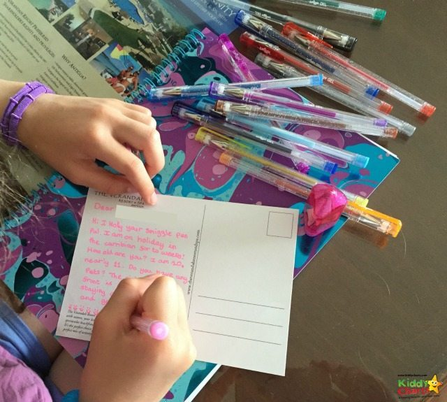 Smiggle's got a great range of supplies for the kids going back to school, and encouraging them to get creative with their postcard writing as well!