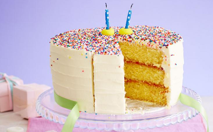 What says happy birthday more than a birthday sprinkles cake