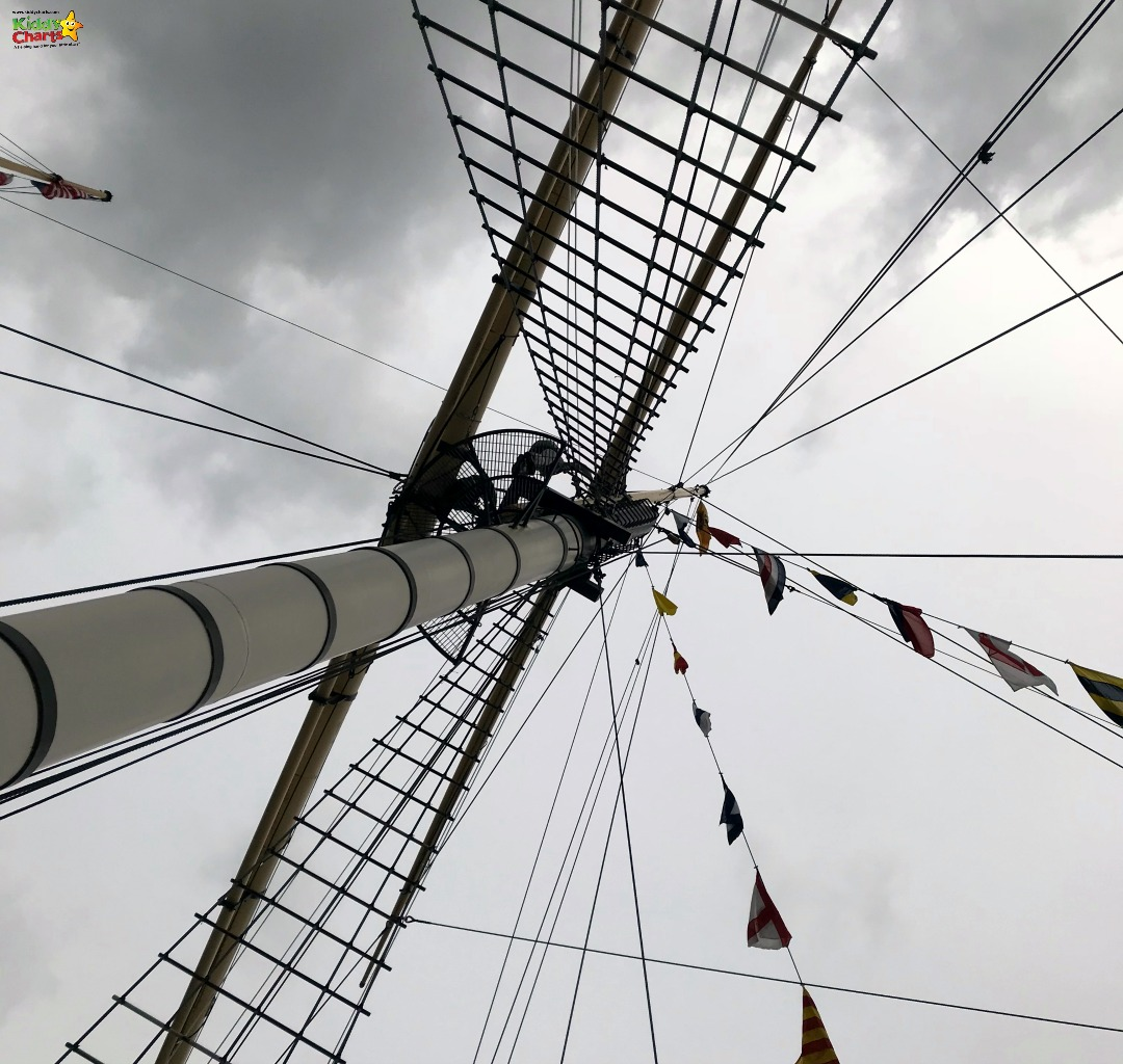 SS Great Britain Go Aloft crow's nest - experience the climb up the rigging to the crow's nest #bristol #daysout #travel #uk