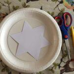 Star paper plate sun catcher