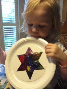 star5 & Star paper plate sun catcher