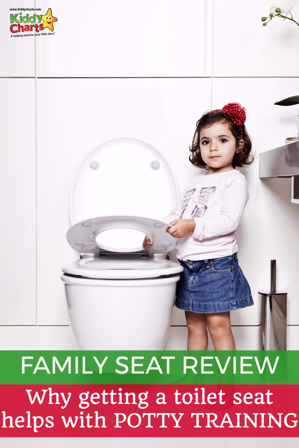 So gettting a toilet seat seems strange to help with potty training - right? WRONG. The Family Seat is great potty training help and we tell you why!