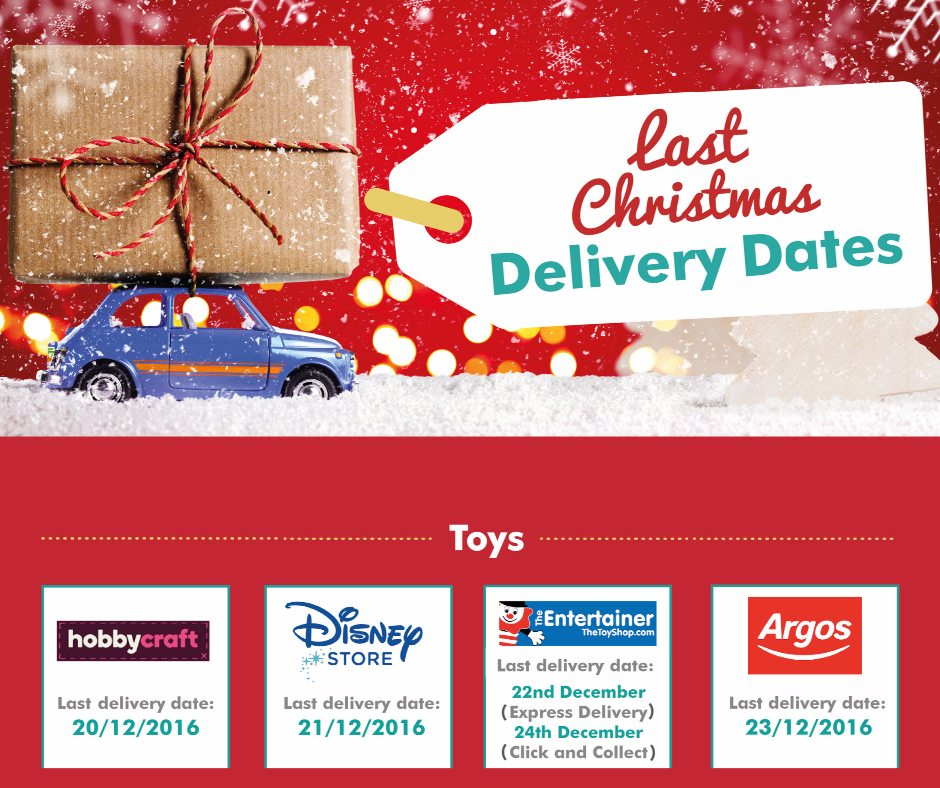 Last Xmas Delivery Dates for you all - more on the post so you don't miss them!