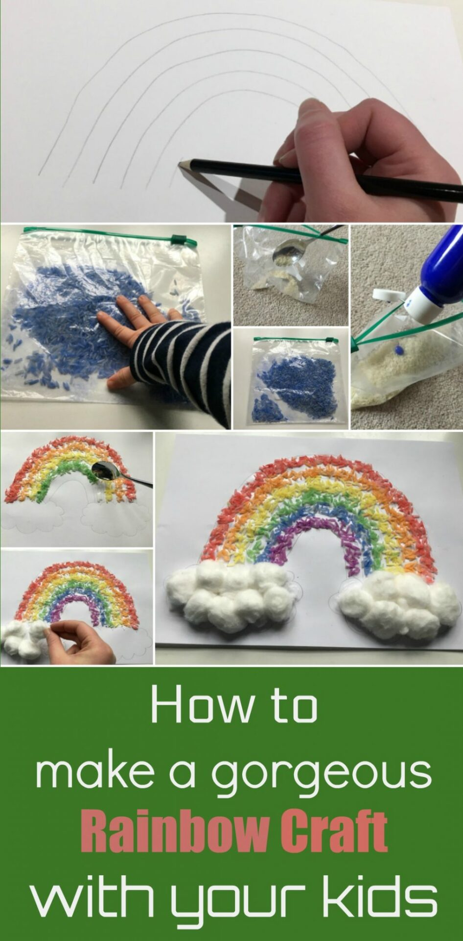 This rainbow craft is lovely to do with the kids - something special for a rainy day, when perhaps there is a rainbow outside - or just any day!