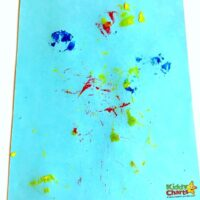 Nature painting for toddlers