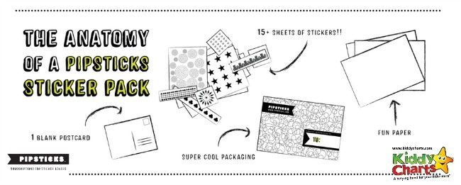 This sticker club is different - check out what you get with Pipsticks each month...