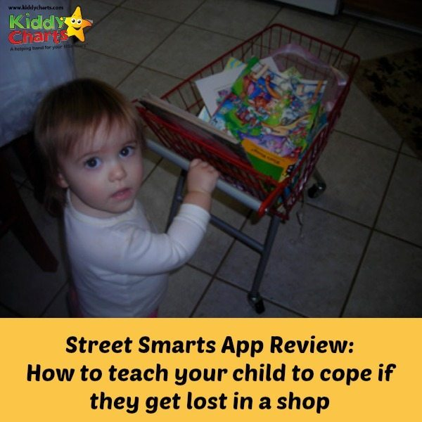 Street Smarts App is a great new App for iPhone that helps you to give clear instructions to your child on what to do if they get lost in a shop.