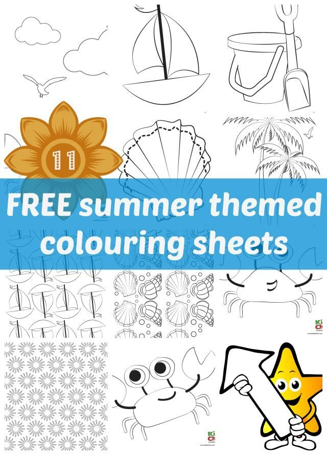 Are you looking for something to entertain the kids over the summer - or just to make you think of more sunnier times? Check out these 11 free summer themed colouring sheets. They should do just that.