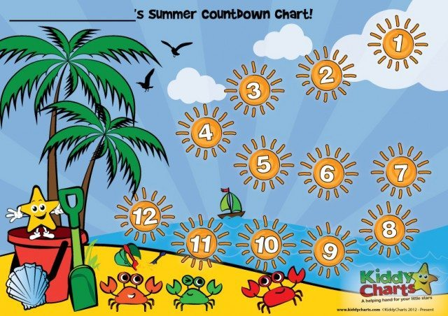 Counting down to something fun to do with the kids this summer? Here' is a great chart to pin on the fridge to help them do it!