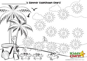 image about Printable Countdown Chart named Countdown towards your summertime family vacation