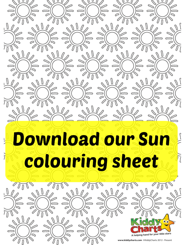 This warm sun colouring sheet is now available for you to download, perfect for the summer