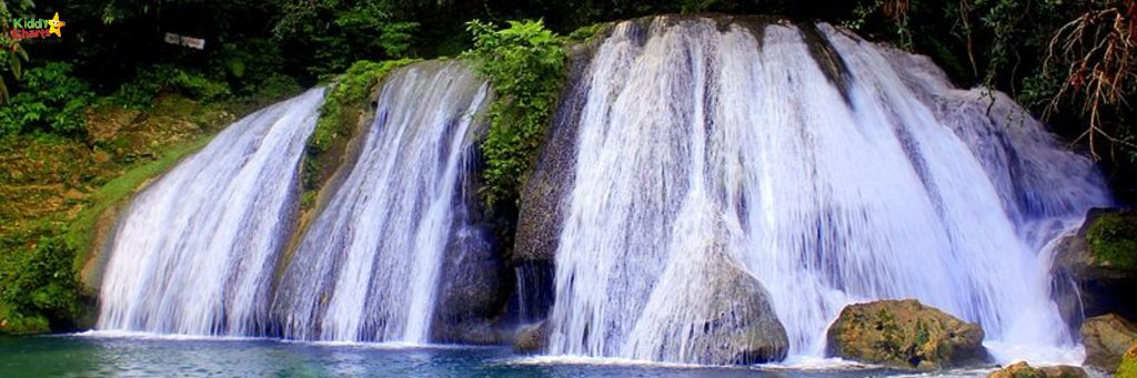 Reach falls - one of the gorgeous things to do with kids in Jamaica.