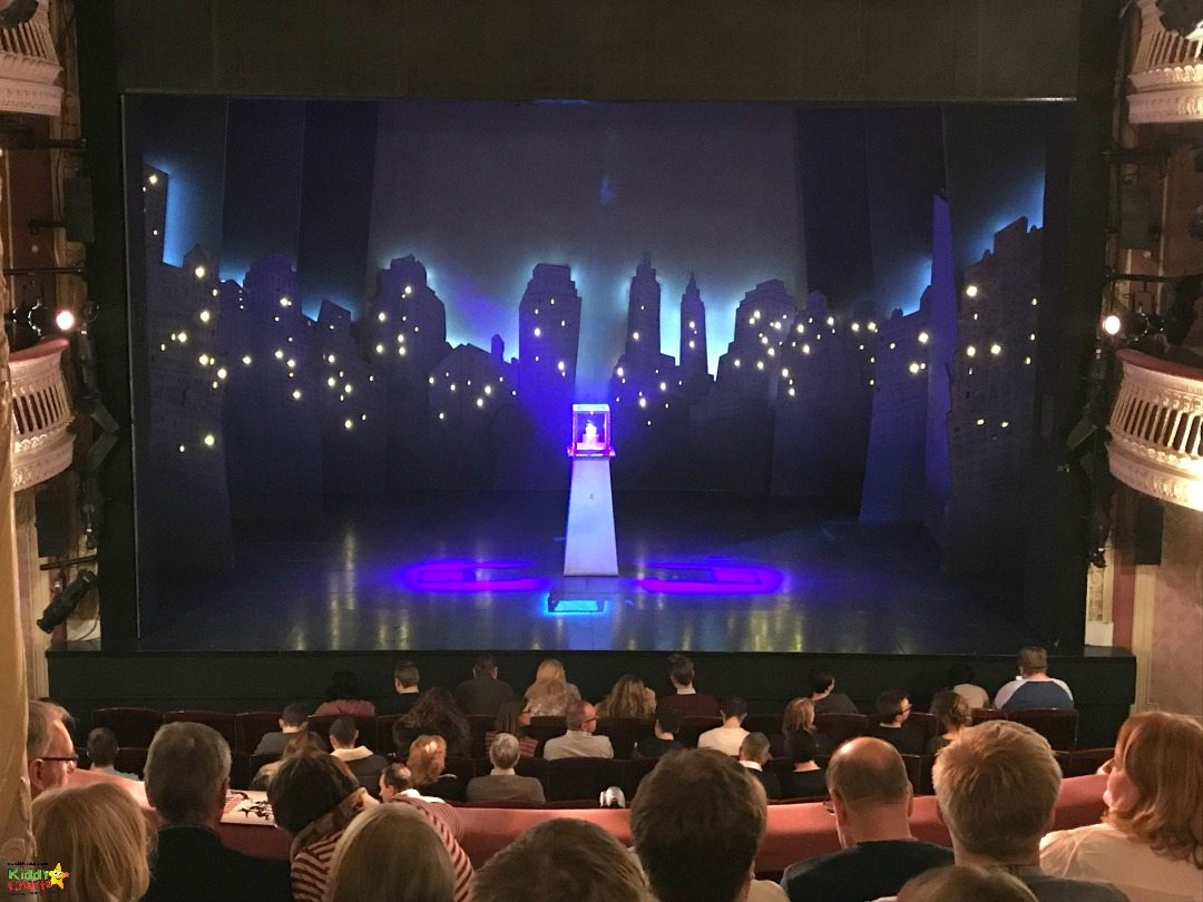 The view of the diamond on stage in the Criterion Theatre for The Comedy about a Bank Robbery - one of the things to do in London with kids we'd recommend on TripAdvisor