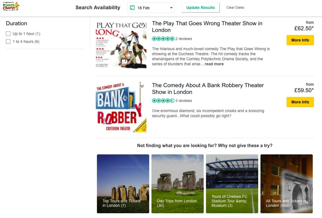A Comedy about a Bank Robbery is a rather wonderful one of the things to do in London with kids available through Tripadvisor's tours - perfect for older kids. And very, very funny!