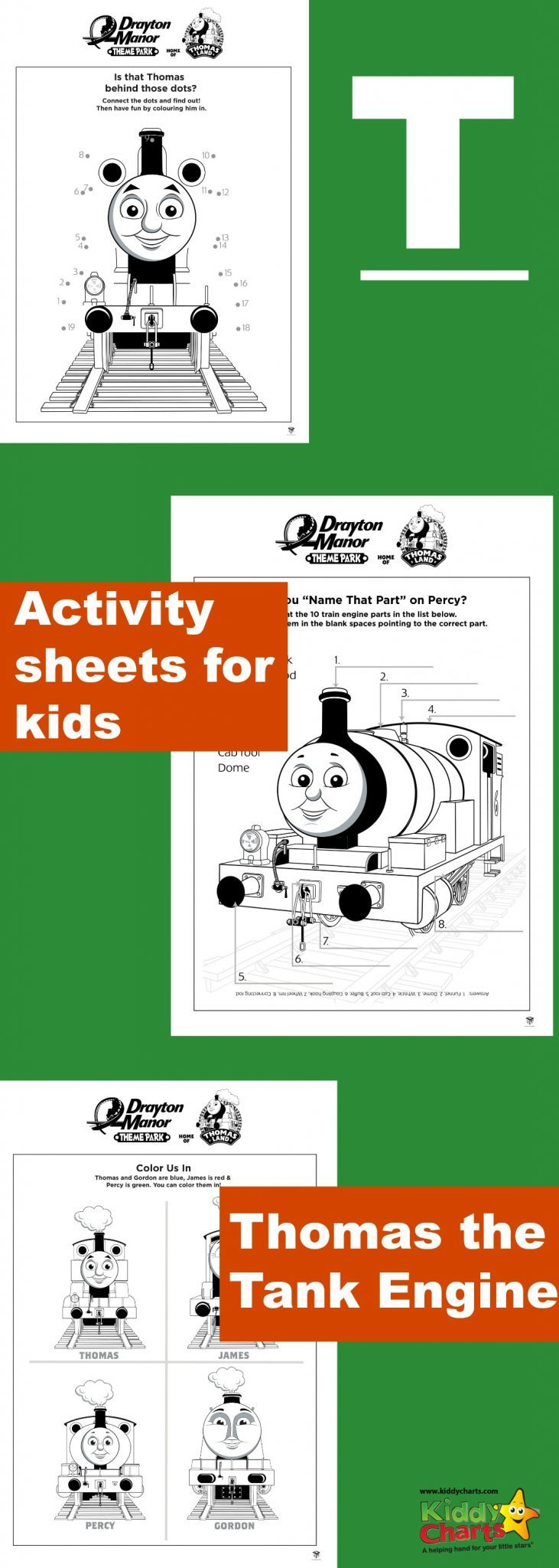 Thomas the tank engine activity sheets for all those train fans out there! #trains #kidscolouring #thomas