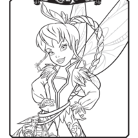 Tinkerbell coloring pages: Celebrate the Tinkerbell and the Pirate Fairy film with a picture!