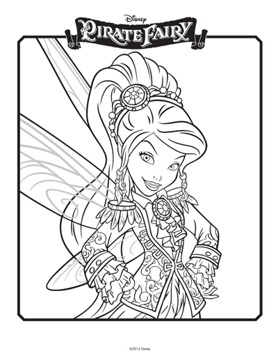 Tinkerbell Coloring Pages: Pirate Fairy