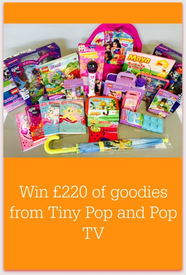 We have THE most amazing prize for you - £220 of goodies from Tiny Pop and Pop TV. Closes on 21st April.