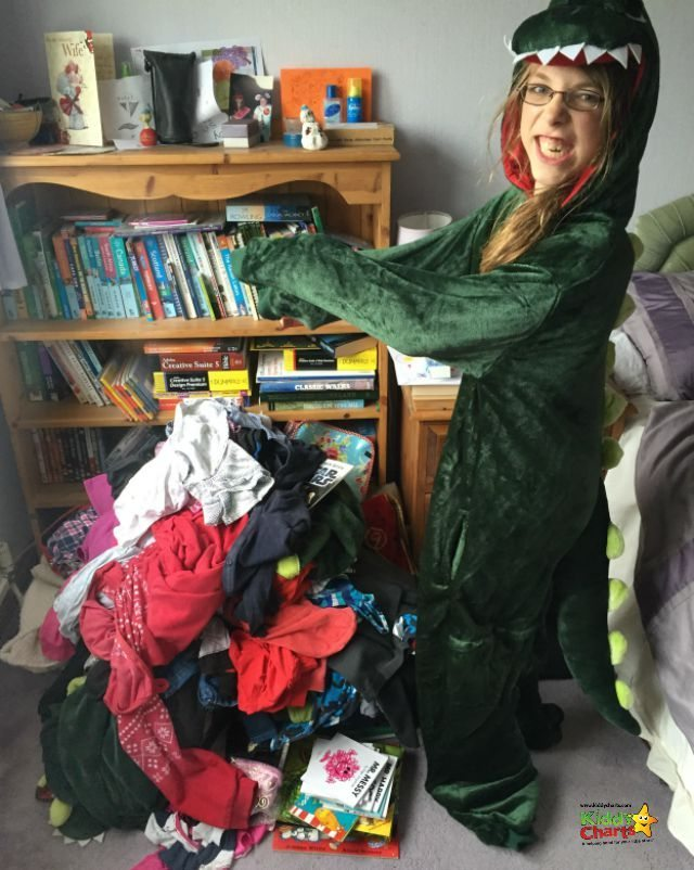 We gave away FOUR dino onesies in our clothes haul for the giving up clothes for good TK Maxx charity campaign for Cancer Research UK Kids and Teens.