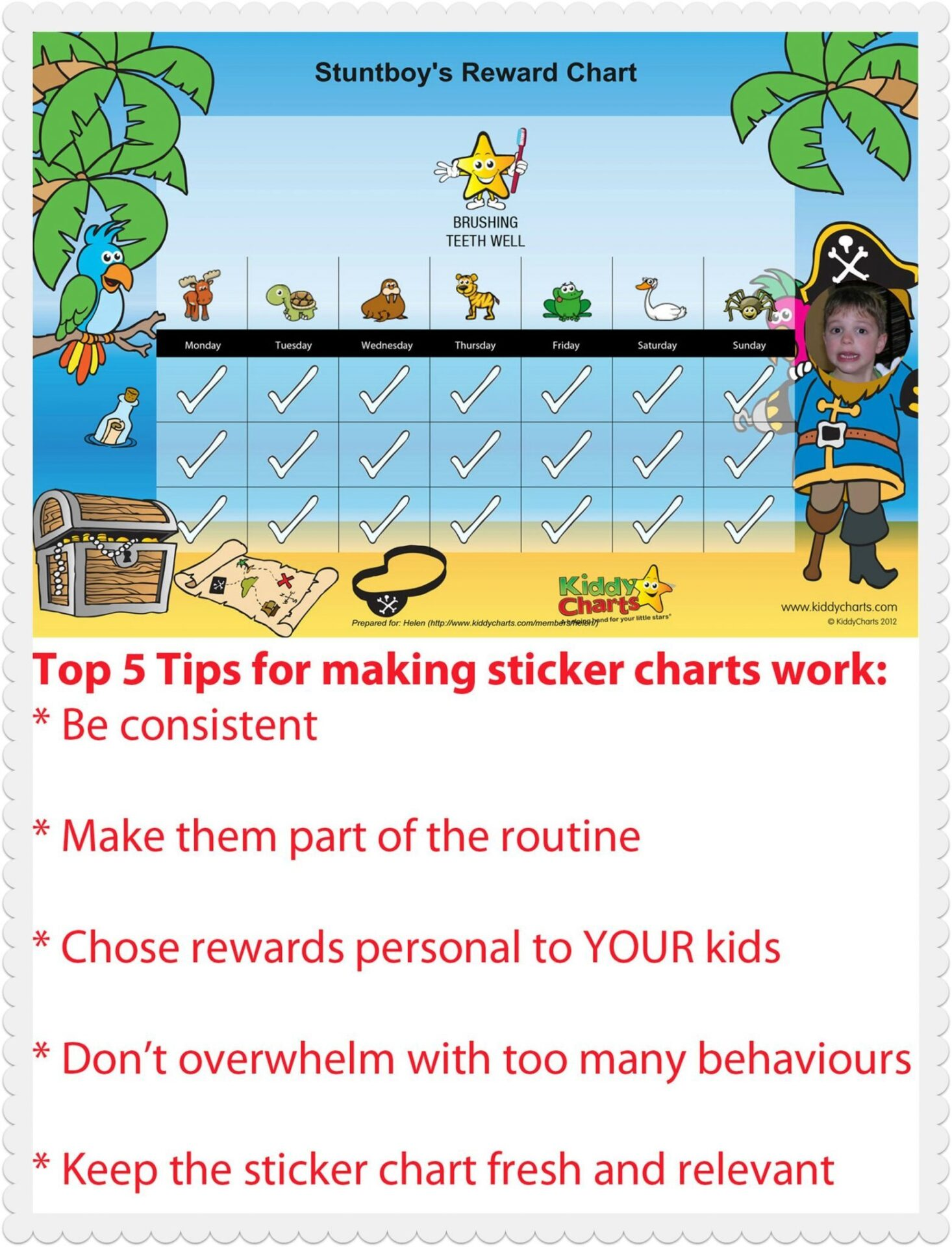 Top five tips for making sticker charts work