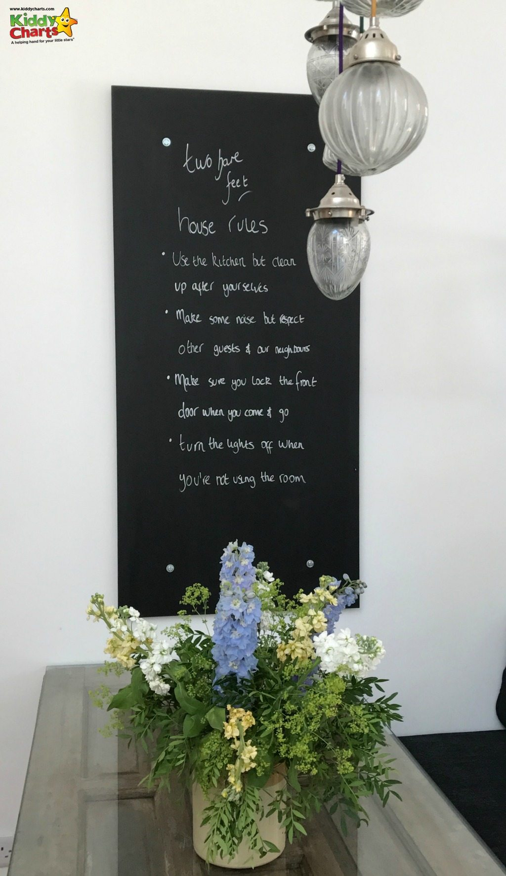 Two Bare Feet Winchester has some lovely house rules, for you and the kids to stick to!