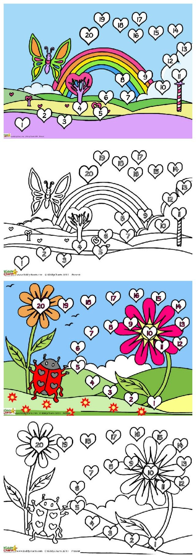 Colouring in reward charts - Download These Two Valentine Reward Chart Designs You Can Get The Kids To Colour Them