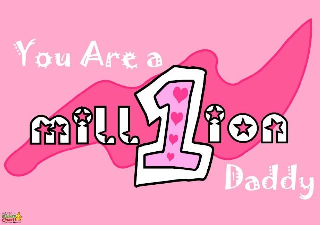 You're one in a million Daddy! Another great sentiment for Valentines Day Cards from Daughter to Daddy...we have three more Valentines Cards on the blog.