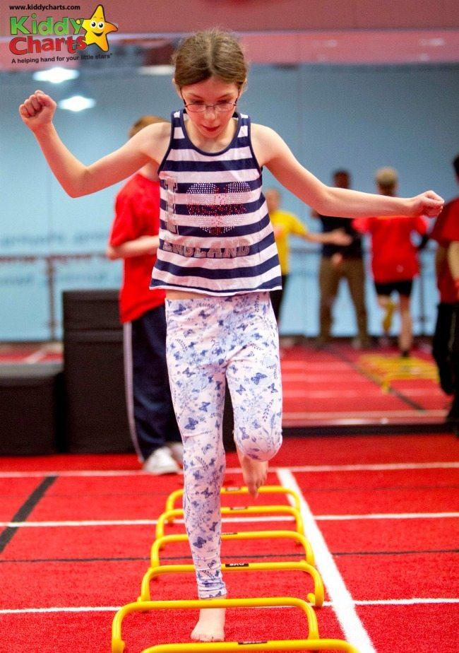 Virgin Active Ceew warm up - doing the hurdles