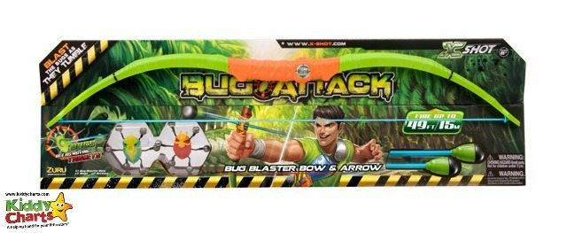 The Bug Attack series has a new set - a bow and arrow for Hunger Games followers. Just throw the bugs, and hit them with your bow and arrow. Kids love it.