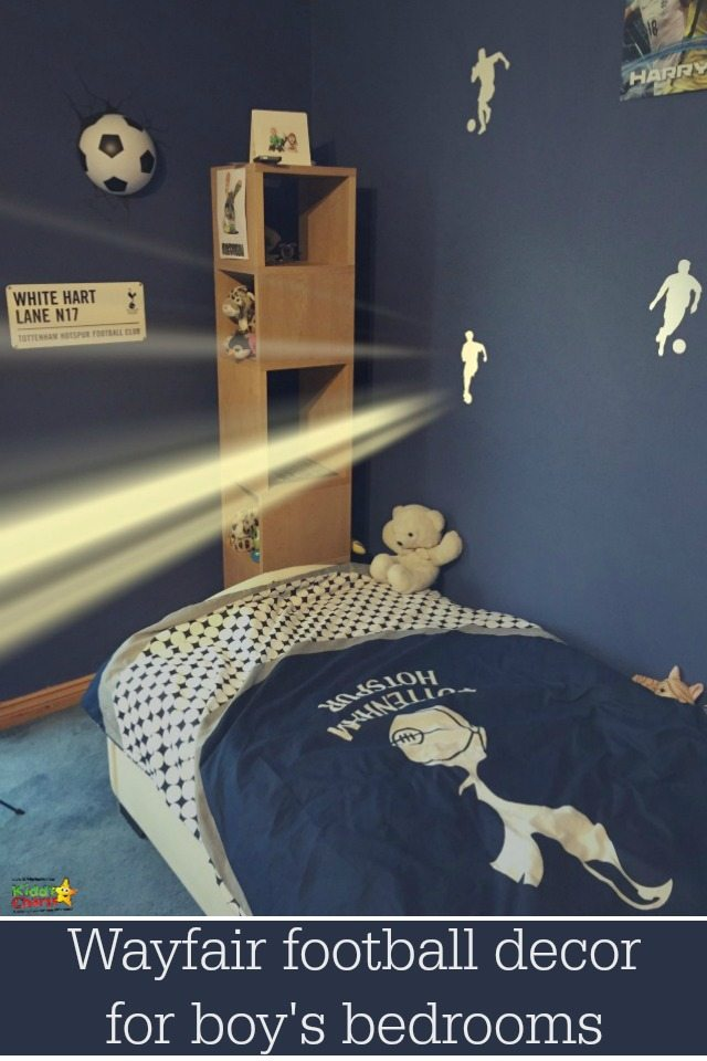 Wayfair have some great football decoration and football accessories to really help finish off a boys bedroom. If you are stuck for boys bedroom ideas, why not check them out?