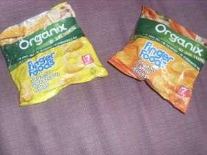 Weaning: Organix finger food
