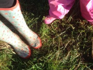 Working mums; Who looks after the feisty toddler an their wellies when they aren't well?