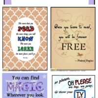 Free printable reading quotes for World Book Day posters and beyond